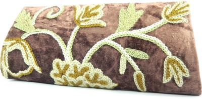Aabeer Women Party Brown  Clutch