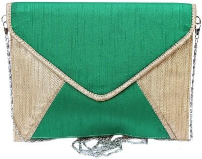 Craftbazaar Green  Clutch
