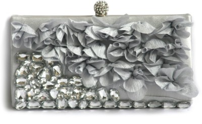 Inspired Living Women Party Grey  Clutch