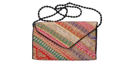 Gutthi Festive, Casual, Party, Wedding Multicolor  Clutch