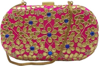 Bhamini Women Party Pink  Clutch