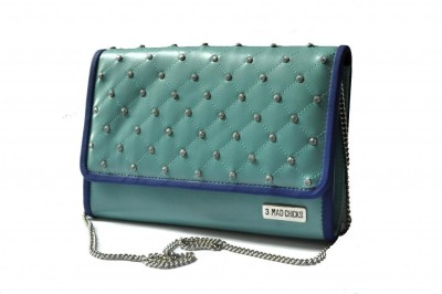 3 Mad Chicks Women Casual Blue  Clutch
