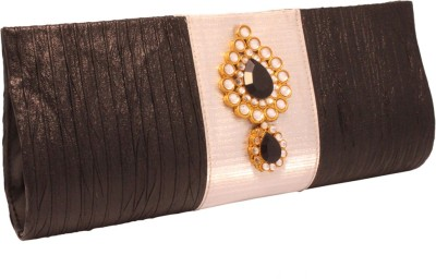 Vendee Fashion Wedding Black, White  Clutch