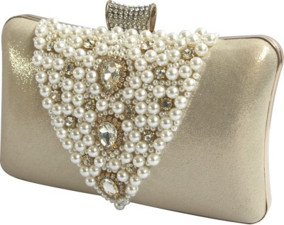 Inspired Living Women Party Gold  Clutch