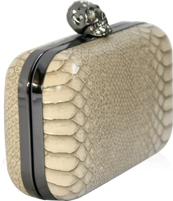 Inspired Living Women Casual, Party Beige  Clutch