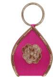 Ashyam Women Party Pink  Clutch