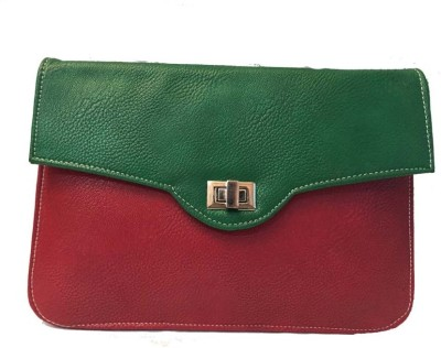 Balaji Creations Women Party Red, Green  Clutch