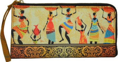 Regno Indea Casual, Formal Yellow, Brown  Clutch