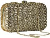 Sadaf Women Gold  Clutch