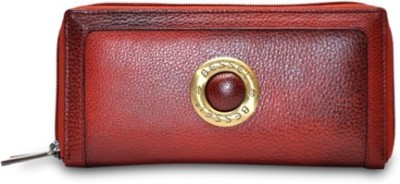 Hide Bulls Maroon  Clutch