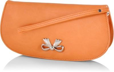 Butterflies Casual Orange  Clutch