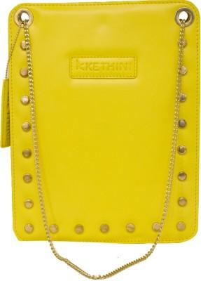 Kethini Women Casual Yellow  Clutch