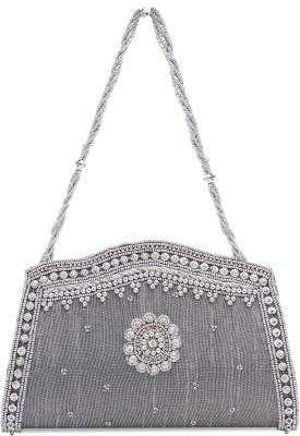 Ashyam Party Silver  Clutch