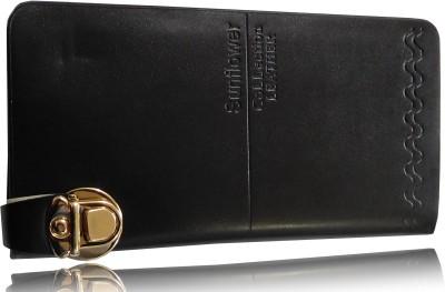 SN LOUIS Girls, Women Black Genuine Leather Wallet