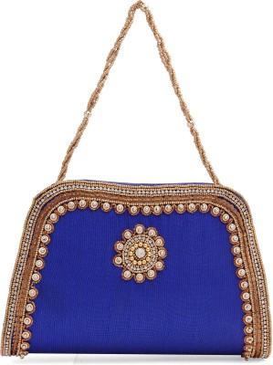 Ashyam Party Blue  Clutch