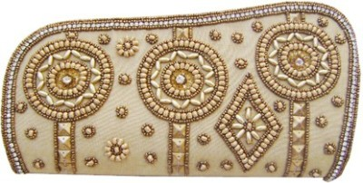 Himalaya Handicraft Party Beige  Clutch