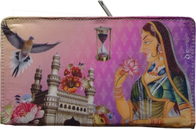 MD Retails Women Casual Pink  Clutch