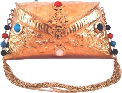Hemshri Girls Party Gold  Clutch