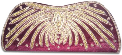 Linzina Wedding, Casual, Party, Festive, Formal Maroon  Clutch