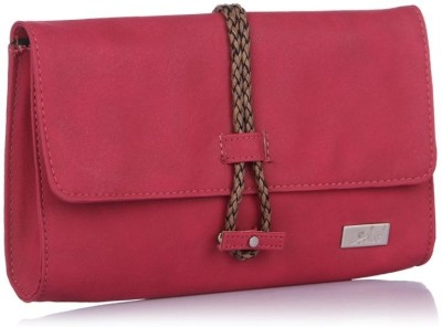 Yelloe Girls Casual Pink  Clutch