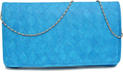 SG Collection Women Party Blue  Clutch