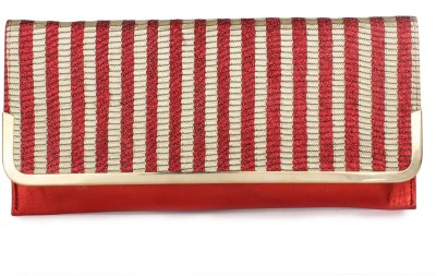Do Bhai Women Party Red  Clutch
