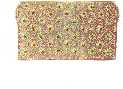 Himalaya Handicraft Women Formal Orange  Clutch