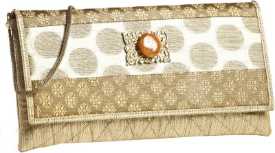 Aapno Rajasthan Women Party White  Clutch