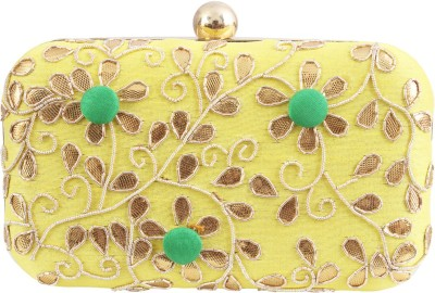 Glitters Party, Casual Yellow, Green  Clutch
