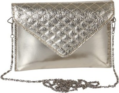 Kuero Wedding, Party, Festive Silver  Clutch