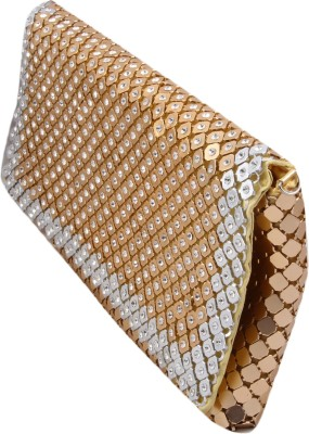 Alishaan Wedding, Party, Festive, Casual Gold, Silver  Clutch