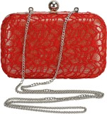 Samisha Women Party Red  Clutch