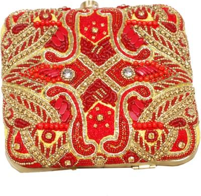adiba Red  Clutch