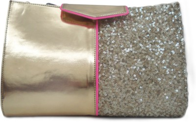 Zaera Women Casual Gold  Clutch