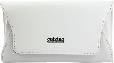 Calvino Women, Girls Casual, Formal White  Clutch