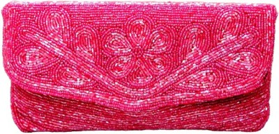 Anshul Fashion Pink  Clutch
