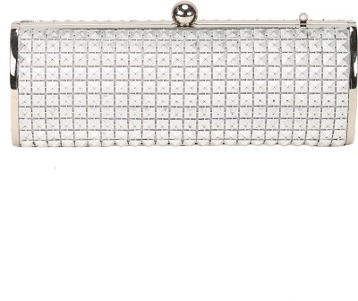 Mese Casual Silver  Clutch