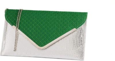 Fashnopolism Casual Green  Clutch