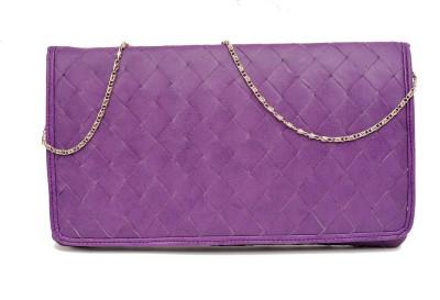 SG Collection Women Party Purple  Clutch