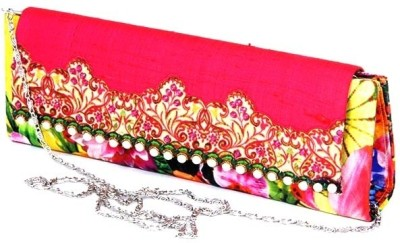 Abqa Girls Casual, Party, Wedding Multicolor  Clutch