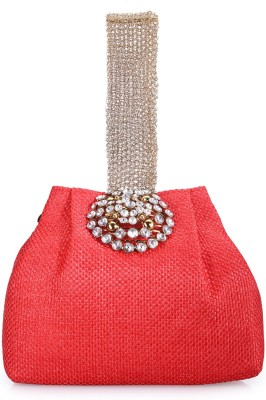 BY Bribe Yourself Women Casual Red  Clutch