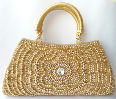 Alishaan Wedding, Casual, Party, Festive Gold  Clutch