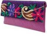 Ashyam Women Party Purple  Clutch