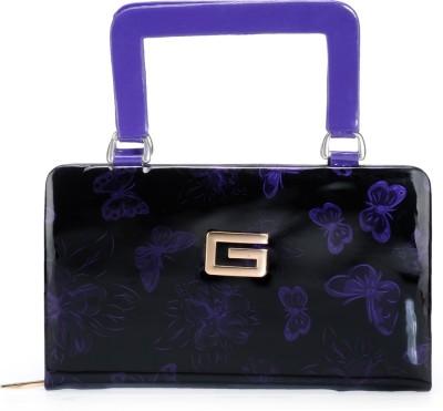 Bags Craze Women Festive, Wedding, Casual Black, Purple  Clutch
