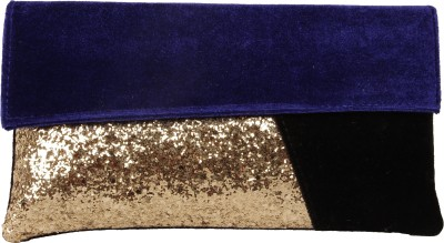 Lizzie Casual, Festive, Formal, Party, Sports, Wedding Purple, Gold, Black  Clutch
