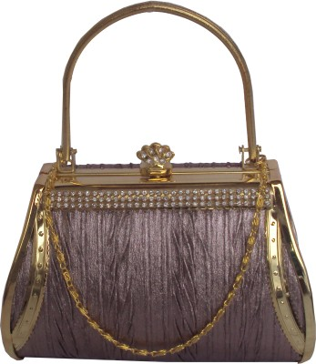 Regno Indea Girls Party Purple, Gold  Clutch