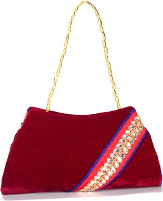 Arisha kreation Co Women Party Maroon  Clutch