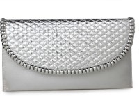 Do Bhai Women Party Silver  Clutch best price on Flipkart @ Rs. 499