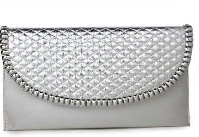 Do Bhai Women Party Silver  Clutch