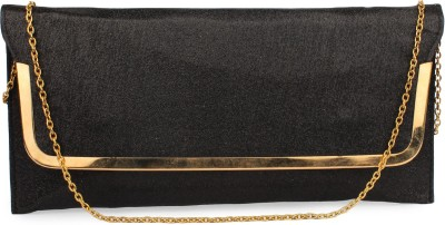 Do Bhai Festive, Party Black  Clutch